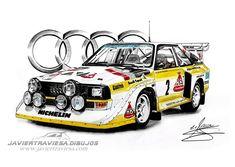 Sport Quattro, Audi Quattro, Audi Rs, Audi Sport, Car Drawings, Automotive Art, Art Cars, Cool Cars, Super Cars