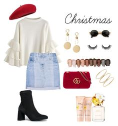 """Christmas 2"" by demeryjaguar on Polyvore featuring Fivestory, Gucci, AG Adriano Goldschmied, J. Adams and Marc Jacobs"