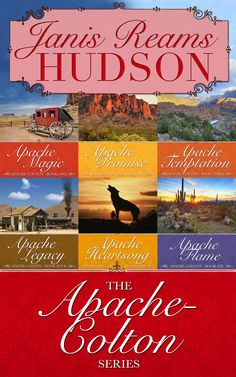 These six grand, sweeping historical romances from Janis Reams Hudson take readers out West, where the sun reveals all the hidden desires lurking in the shadows, and the passion sizzles hotter than the desert sands.   http://diversionbooks.com/ebooks/apache-colton-series-omnibus-edition