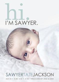 Such a cute birth announcement! @Stephanie Fulford ,I'm not pregnant haha
