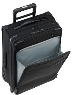 Briggs & Riley Luggage Baseline Domestic Carry-On Expandable Upright Suitcase Best Carry On Luggage, Carry On Suitcase, Travel Luggage, Luggage Bags, Travel Bags, Air Travel, Briggs And Riley, Overhead Storage