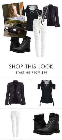 """""""Riding with Dom"""" by pink-poison ❤ liked on Polyvore featuring Marc Jacobs, Vila Milano and Timberland"""