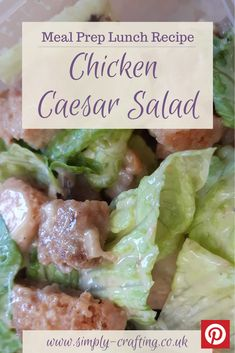 Oh wow, I never knew a salad could taste this GOOD!!  It's a total calorie fest but oh so worth it for the incredible flavours.  #simplycrafting #budgetrecipes #batchcook #healthiereating #mealinspiration #midweekmeals #fiveaday #homemadefoodisthebest #mumscooking #homecooked #summersalad #chickencaesarsalad