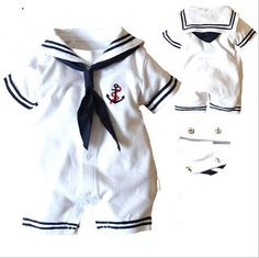 Baby romper hot summer newborn baby boy clothes navy style jumpsuit one-pieces Baby Outfits, Sailor Outfits, Kids Outfits, Toddler Outfits, Baby Boy Romper, Baby Boy Newborn, Baby Bodysuit, Baby Boys, Infant Boys