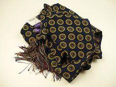 Ralph Lauren Purple Label Scarf. Silk.  Made in Italy.
