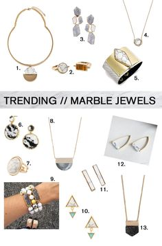 Marble Jewelry Trend