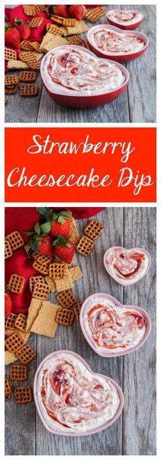 Strawberry Cheesecake Dip  #strawberry #cheesecake #dip #appetizer #dessert #valentine #valentinesday