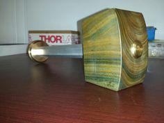 "Lignum Vitae Wood Mallet /Hammer Brass ends with 1"" Aluminium hex"