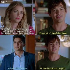 "#PLL 7x17 ""Driving Miss Crazy"" - Hanna, Caleb and Furey"