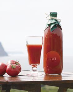 サンセット トマトジュース パッケージ