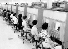 The Redfern Mail Exchange's impressive new computerised mail sorting system is displayed. It illustrates data entry relating to each postal item entered. 1966.  Learn more about our history here: http://auspo.st/1C0gYkJ