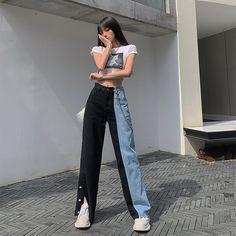 Tall Girl Outfits, Swaggy Outfits, Cute Casual Outfits, Pretty Outfits, Korean Outfit Street Styles, Korean Street Fashion, Korean Outfits, Kpop Fashion Outfits, Ulzzang Fashion