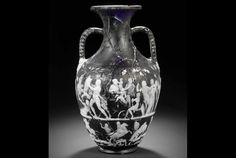 "1st century BC, cameo glass, 30 figures, (Portland vase with 7 figures), 13""t."