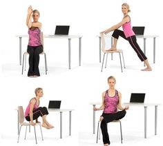 Yoga poses for the desk.