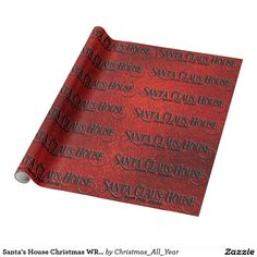Santa's House Christmas WRAPPING PAPER