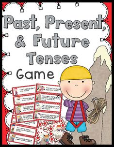 A fun way to review past, present, & future verb tenses. 40 sentence cards…