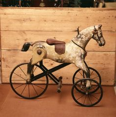 Vintage Toys Antique horse needing to visit the horse hospital to have a full right rear leg reconstruction. Antique Rocking Horse, Rocking Horse Toy, Vintage Horse, Antique Toys, Vintage Antiques, Antique Decor, Equestrian Decor, Wooden Horse, Pull Toy