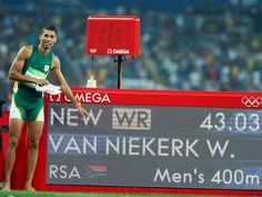 South Africa's Wayde van Niekerk smashed Michael Johnson's 17-year-old world record in the 400 meters at the Rio Olympics, running an astonishing 43.03 seconds, shaving 0.15 seconds off Johnson's record.But van Niekerk's accomplishment goes beyond that. ESPN shared some data that highlights ...