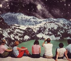 Surrealism, a vintage fashion touch and simple compositions are the perfect mix of every collage of the American artist Beth Hoeckel. Art Du Collage, Surreal Collage, Collage Design, Art Design, Diy Art, Framed Art Prints, Canvas Prints, Canvas Art, Eugenia Loli