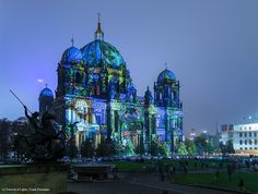 Artist: Ross Asthon. The #FestivalOfLights has invited ten #designers, #creatives and #artists to design the facade of the #BerlinCathedral under the motto #ColoursOfJoy.   #BerlinerDom #Berlin #Colours #Light