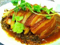 braised pork belly with preserved vegetables