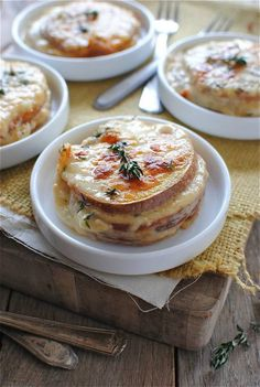 Cheesy Sweet Potato Stacks with Thyme-Infused Cream