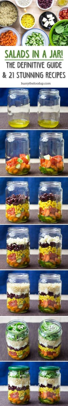 These 12 healthy mason jar salads will help you get started with this HUGE trend. This is something to get excited about as many have lost a TON of weight using this meal prep method!