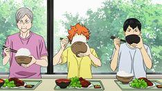 Mealtime | Hinata | Kageyama | Haikyuu!! | #anime | (gif)