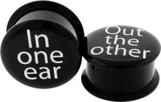 In One Ear, Out the Other Ear Plug Gauge - $7.95 : Body Arts Piercing Jewelry - You gotta hole? We can fill it!