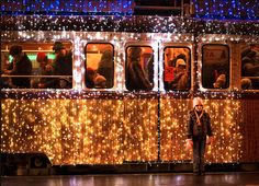 Long Exposure Photos of Budapest Trams Lit Up with LED Lights