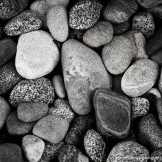 Nature Photography Black and White Beach Rocks 8x8 Fine Art Photograph Zen Minimalist. $15.00, via Etsy.