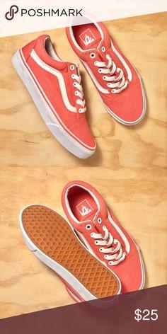 911bdd42ee RESERVED FOR  emmalynnnnnn ✌🏼 NEW!!! Vans Old Skool coral color canvas