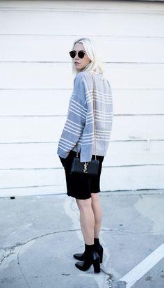 Celine square toe pumps always judging courtney trop Street Style Around The World, Always Judging, Short Girls, Minimalist Fashion, Casual Chic, Beautiful People, Knitwear, Dress Up, Vogue