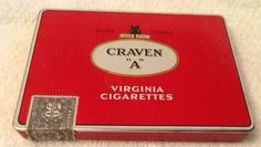 Vintage 1950s Craven A Canadian cigarette tin by BuyfromGroovy