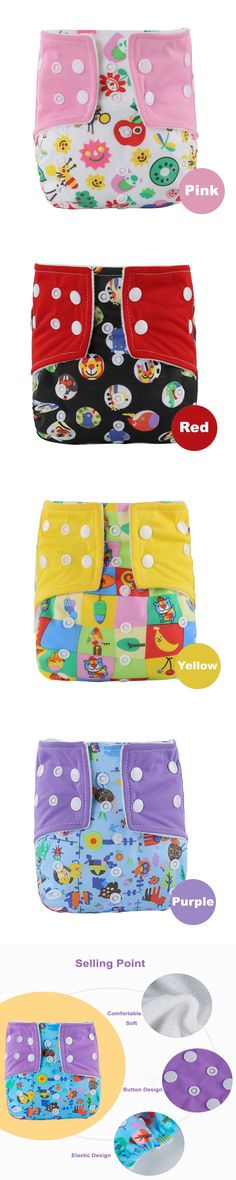 Reusable Nappies Newborn Washable Baby Cloth Diapers For Children Bamboo Reusable Baby Diapers Breathable Potty Training Pants