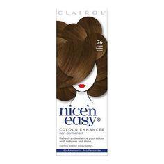 Nice'n Easy Colour Enhancer Hair Dye Light Golden Brown 76 | Superdrug Gel Extensions, Medium Ash Brown, Light Golden Brown, Dyed Hair, Health And Beauty, Fragrance, Skin Care, Easy, Colour