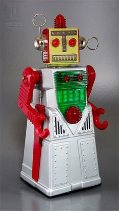 Yoshiya CHIEF ROBOTMAN tin robot reproduction by LUNZERLAND., via Flickr