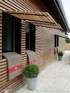 Exterior Cladding Ideas Shutters Ideas For 2020 Timber Cladding, Exterior Cladding, Cladding Ideas, Ideas Cabaña, Casas Containers, House Siding, Architecture Details, Shutters, Exterior Design