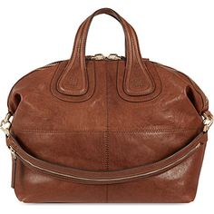 e8f467b932c4 GIVENCHY Nightingale medium shoulder bag in Med brown Brown Leather Purses