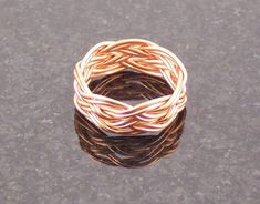 Copper Wire Doubled Turk's Head Celtic Knot Rope Faerie Middle Earth Ring on Etsy, $45.00