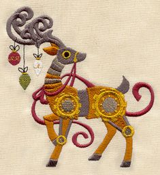 Clockwork Reindeer | Urban Threads: Unique and Awesome Embroidery Designs