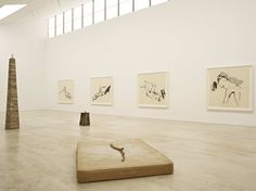 The North Gallery at Turner Contemporary, featuring artwork by Tracey Emin Artwork by Tracey Emin in her exhibition She Lay Down Deep Beneath the Sea Photo: David Grandorge Turner Contemporary, Kent Coast, David Chipperfield Architects, Tracey Emin, Beneath The Sea, Historical Art, Polished Concrete, Concrete Floors, New Homes
