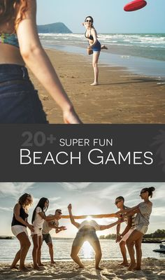 Epic Beach Games for Adults.  A list of 25+ awesome portable games that can easily be transported to the beach, and played in groups, and even using sand as a part of the game.  #beachgames #beach #games #fun #beachactivities #beachday