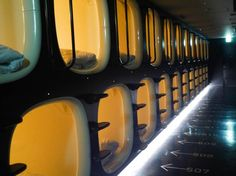 "9 Hours Capsule Hotel Kyoto in Kyoto, Japan  ""I would stay here just for the experience. It is like sleeping in a spaceship."""