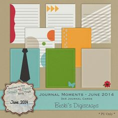 FREE Becki's DigiScrapping : Journal Moments - SNP June 2014 Blog Train