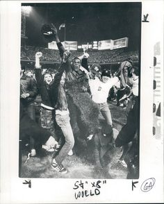 Detroit Tigers 1984 World Series I can say was there its was the most awesome time 5 rows from the field and most scariest thing ever trying to get out of there!!!