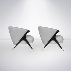 Pair of Modernist Karpen Lounge Chairs, 1950s image 3