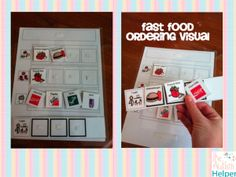 Fast Food Ordering Visual {great for community based instruction for children with special needs}