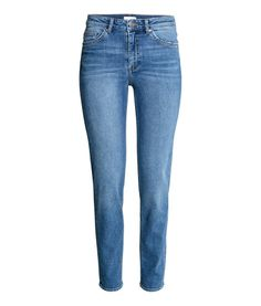 H&M | High waisted stretchy Jeans with light blue wash and straight leg