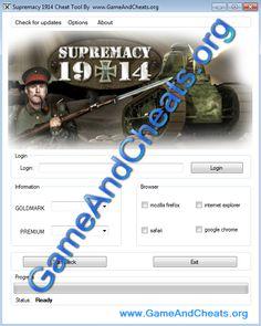 Supremacy 1914 GoldMark and Premium Hack tool - http://gameandcheats.org/supremacy-1914-goldmark-and-premium-hack-tool/